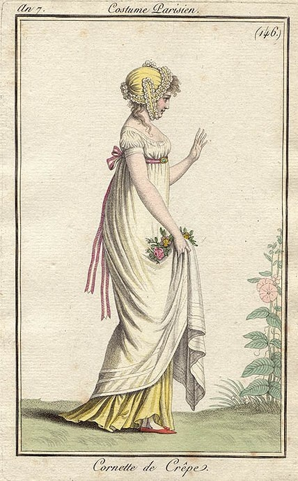 1790s yellow petticoat